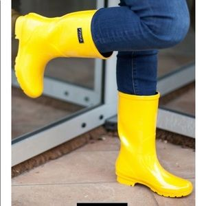 ✨ New Roma Emma Classic Black Rain Boots Size 8